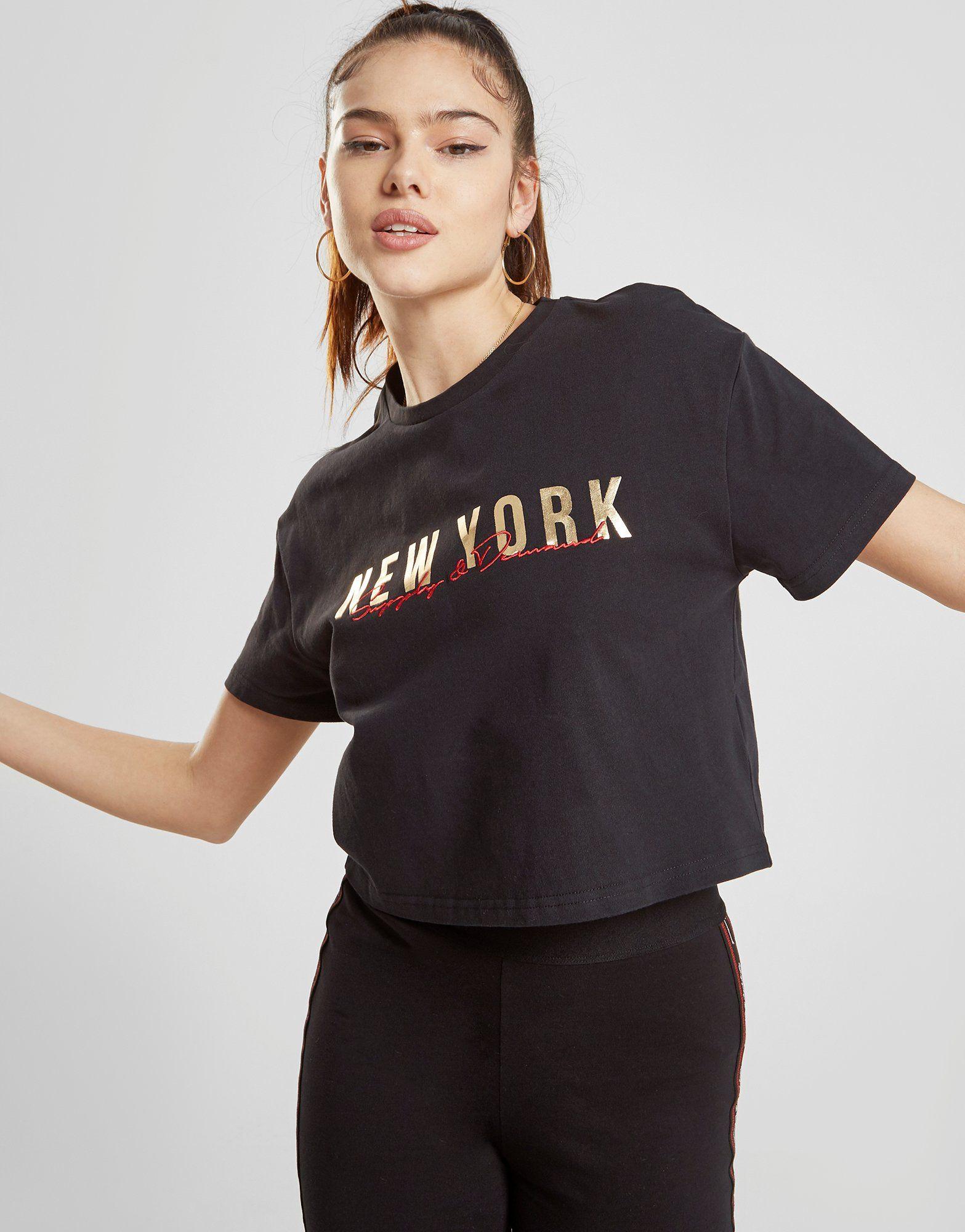 Supply & Demand Metallic New York T-Shirt