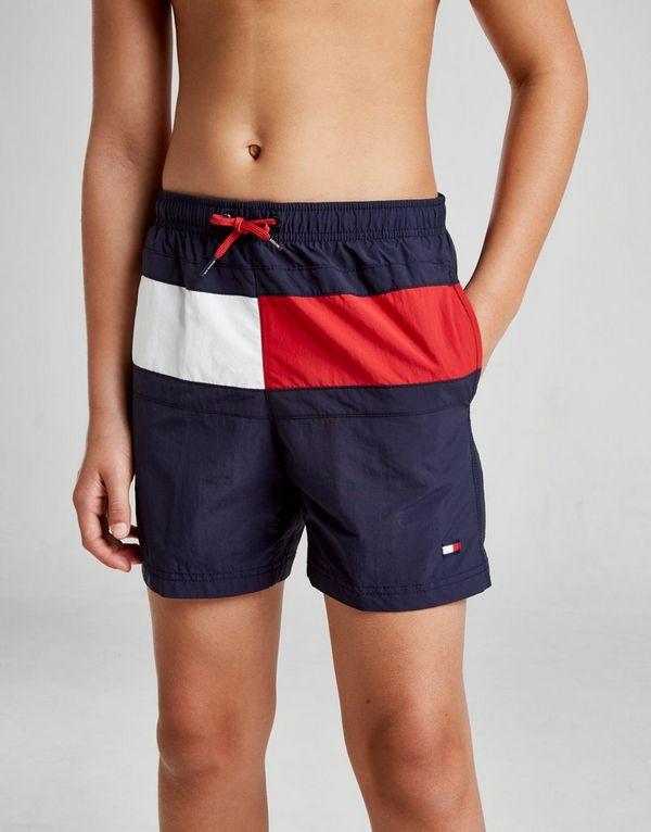 a650b40611cb8 Tommy Hilfiger Large Flag Swim Shorts Junior | JD Sports
