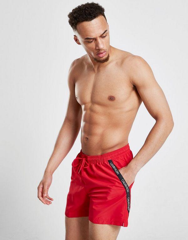 Calvin Klein Diagonal Tape Medium Swim Shorts