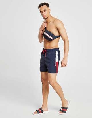 Tommy Hilfiger Solid Flag Swim Shorts