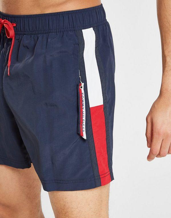 ba60f1a7 Tommy Hilfiger Solid Flag Swim Shorts   JD Sports