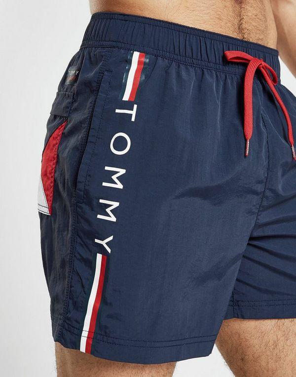 29d88cdc2e45 Tommy Hilfiger Logo Side Stripe Swim Shorts | JD Sports