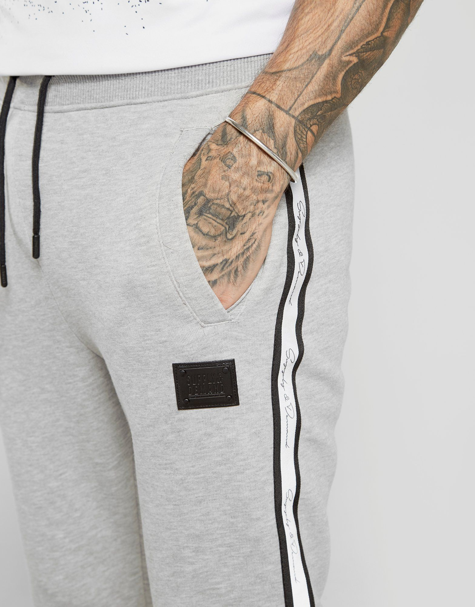 Supply & Demand Reflective Tape Script Joggers