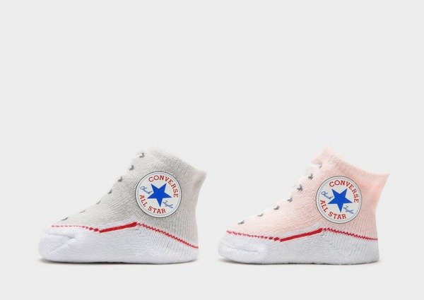 Buy Pink Converse All Star Newborn Chuck Taylor Knit Booties