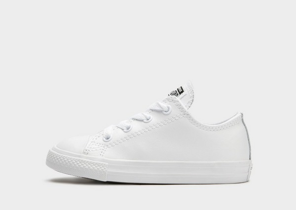 Buy White CONVERSE All Star Low Leather Mono Infant | JD Sports