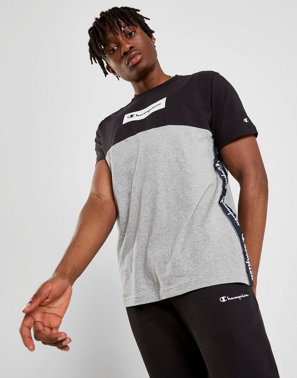 Køb Champion Tape T Shirt Herre i Sort | JD Sports