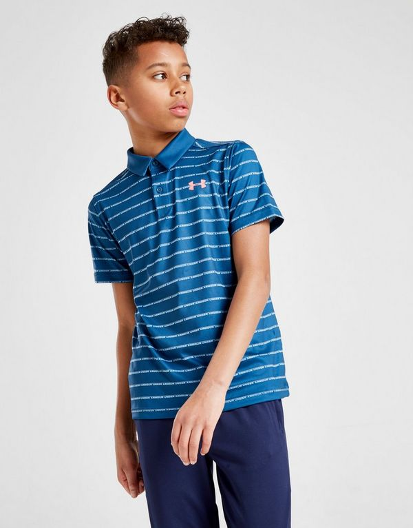 e32e1e99f Under Armour Poly Stripe Polo Shirt Junior | JD Sports