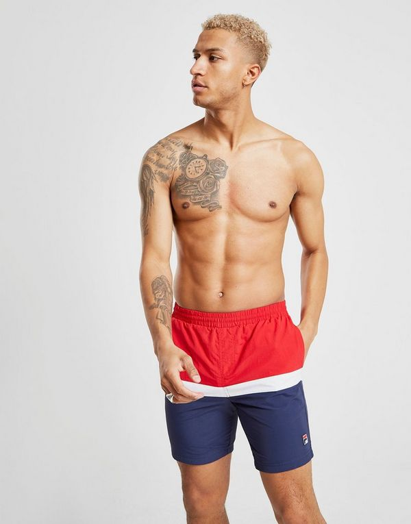 d9a2659d97 Fila Peter Colour Block Swim Shorts | JD Sports