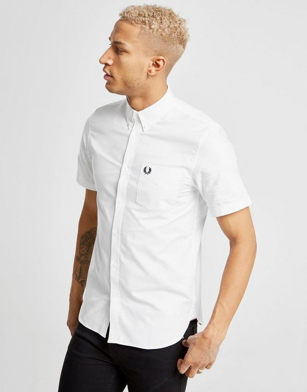 10756bd03 Fred Perry Short Sleeve Oxford Shirt