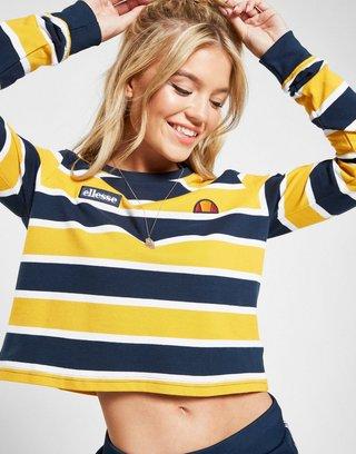 44b1eb2d Ellesse Pique Stripe Long Sleeve T-Shirt | JD Sports