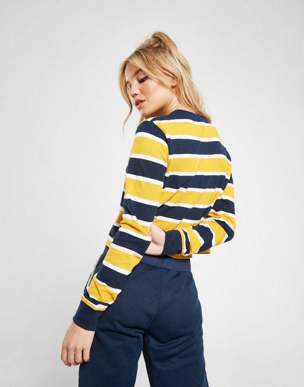 f4e7c3bc47 Ellesse Pique Stripe Long Sleeve T-Shirt | JD Sports