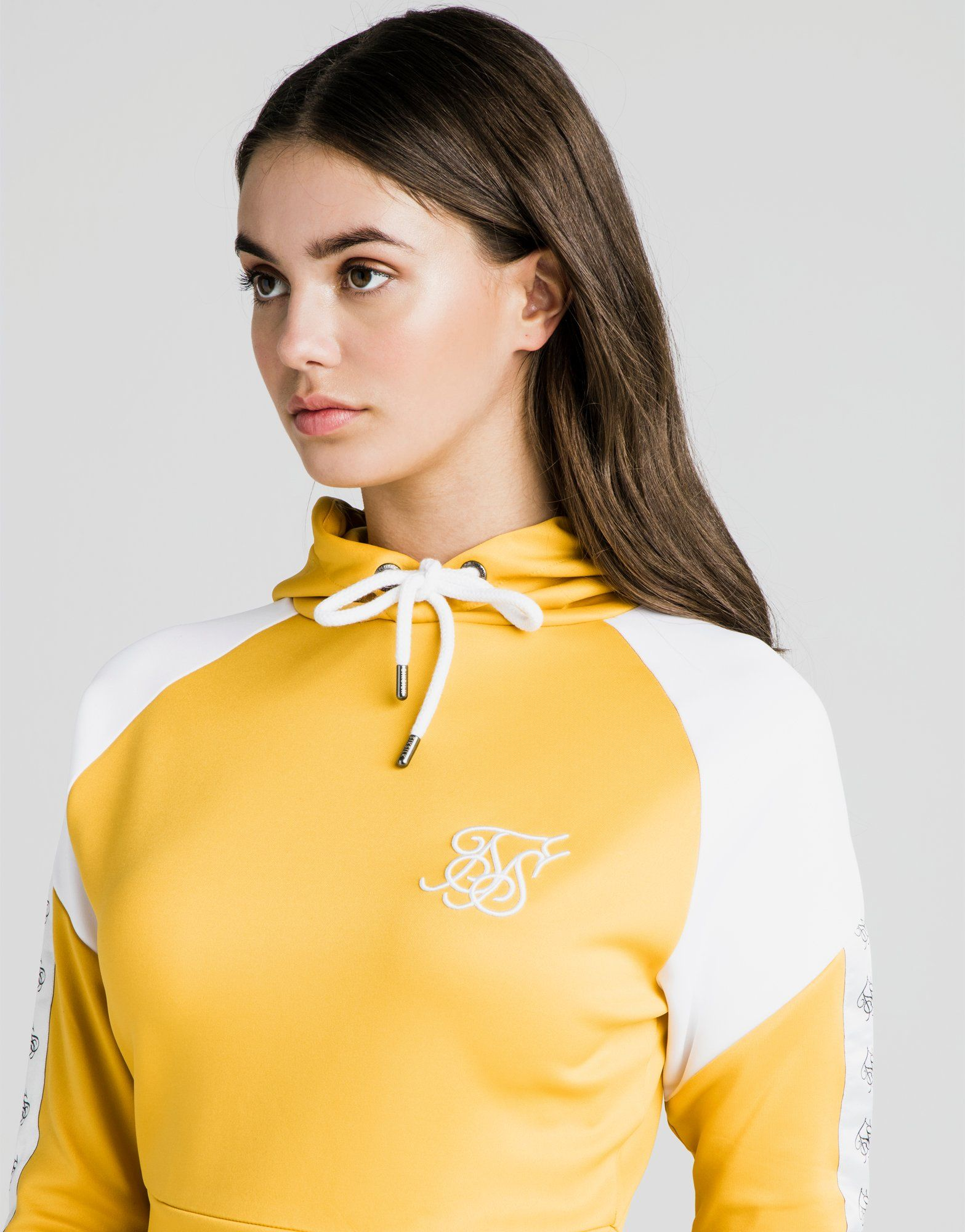 SikSilk Crop Poly Panel Hoodie