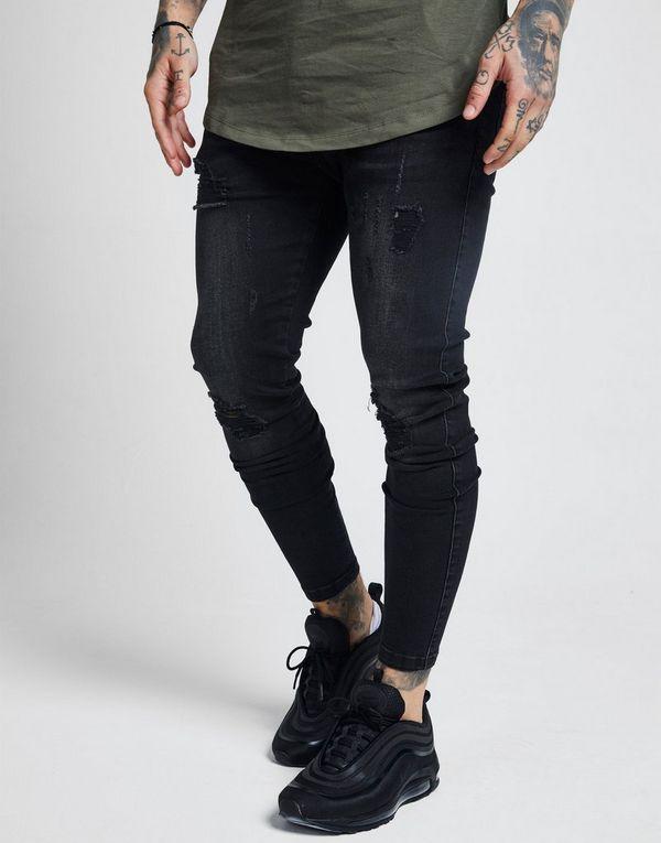 SikSilk pantalón vaquero Rip Washed Skinny