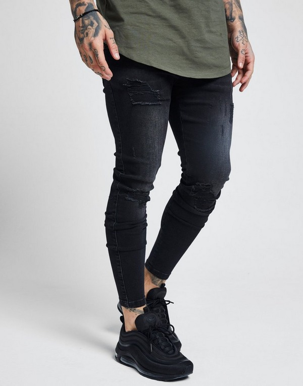 SikSilk Rip Washed Skinny Jeans