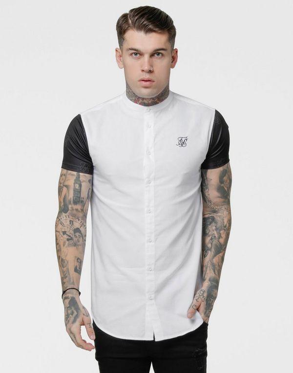 SikSilk Contrast Sleeve Shirt