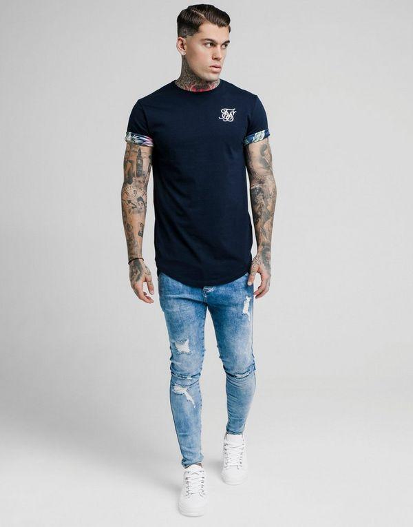 SikSilk Floral Roll Sleeve T-Shirt