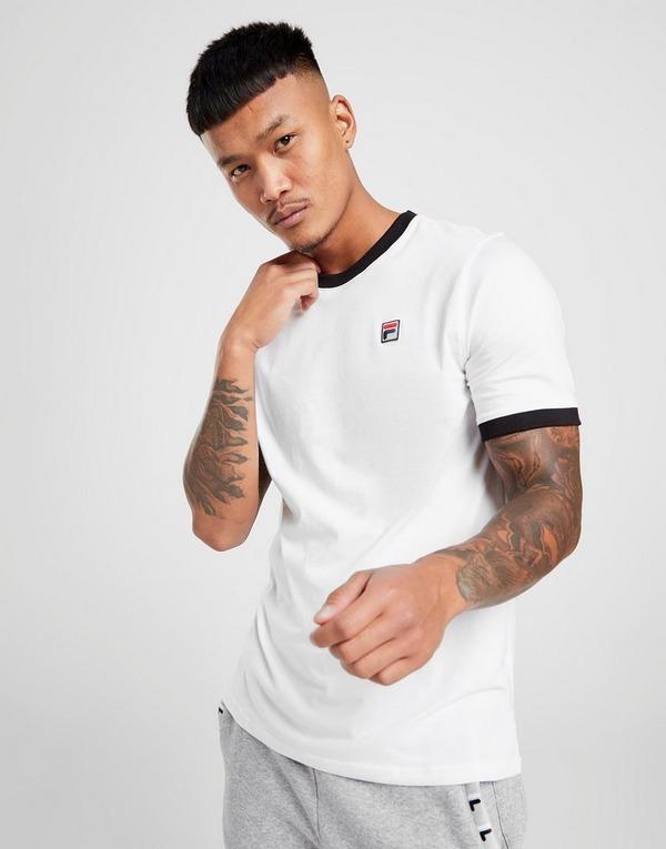 Fila Short Sleeve Ringer T Shirt Herre