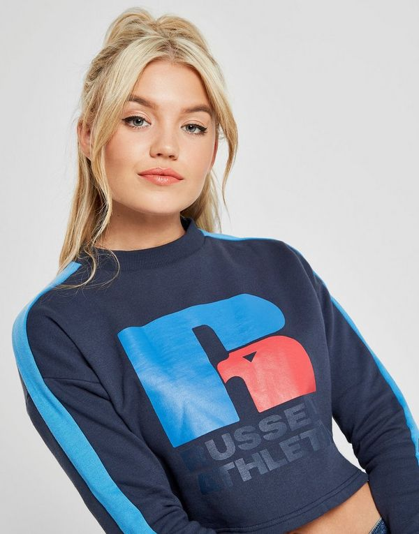 Russell Athletic Logo Crop Crew Sweatshirt