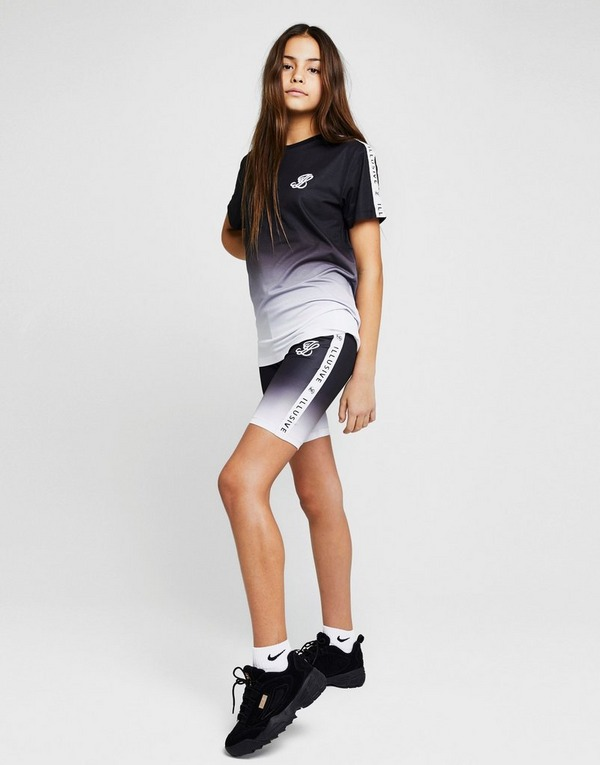 ILLUSIVE LONDON  Girls' Tape Fade Cycle Shorts Junior