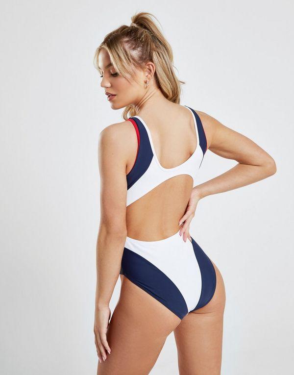 770ed8ef75704c Fila Logo Zip Swimsuit   JD Sports