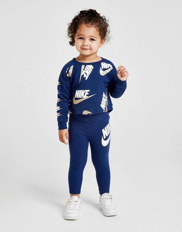 6ef1045e705 Nike Girls' Shine Print Crew/Leggings Set Infant | JD Sports