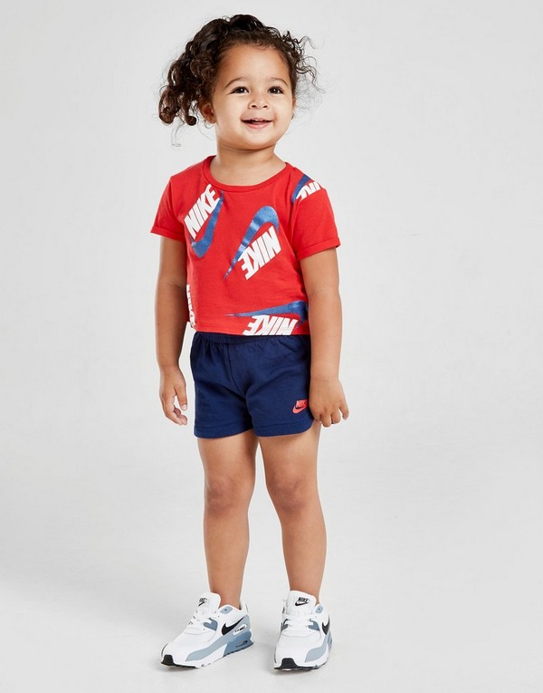 Nike Girls' Shine Print T-Shirt/Shorts Set Infant
