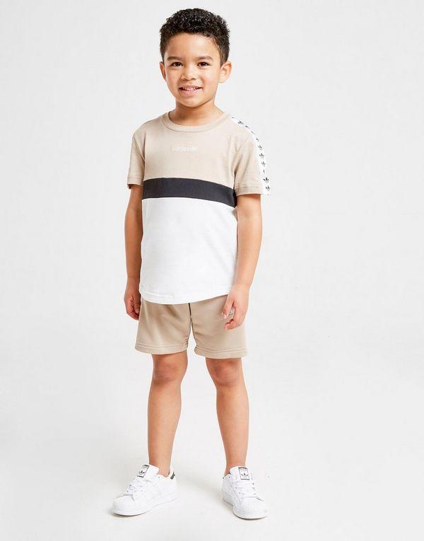 2b9a36fc adidas Originals Tape T-Shirt/Shorts Set Children   JD Sports