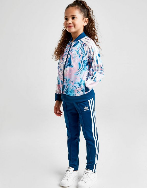 f08d1befd9cc adidas Originals Girls  Marble Superstar Tracksuit Children