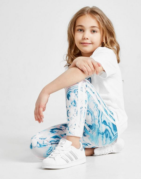 adidas Originals Girls' Marble All Over Print Leggings Children