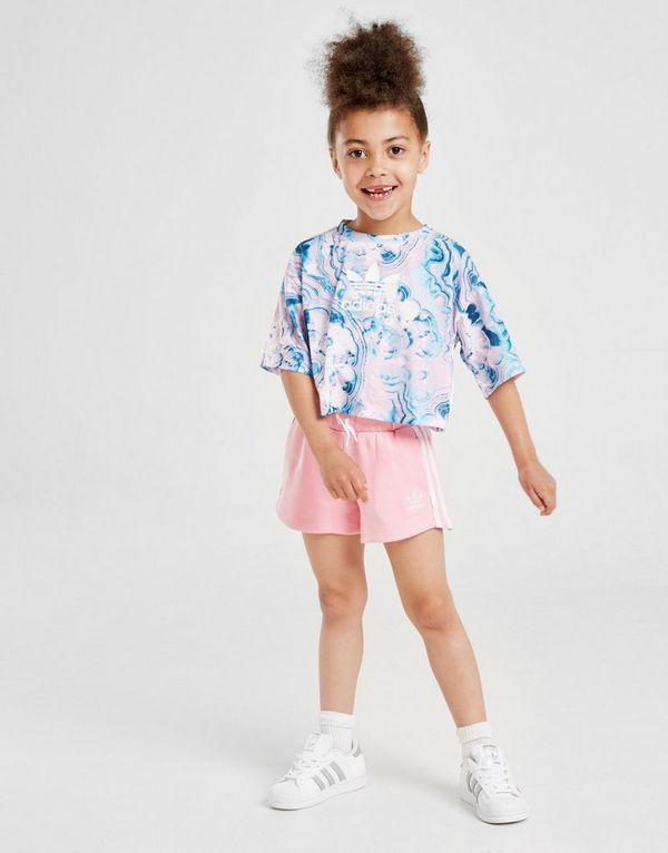 9f2bdfe43ff adidas Originals Girls' Marble T-Shirt/Short Set Children | JD Sports