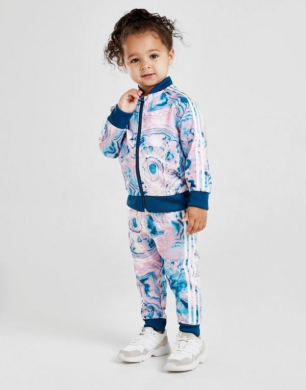 super popular 4a6c5 de9c7 adidas Originals Girls  Marble Superstar Tracksuit Infant