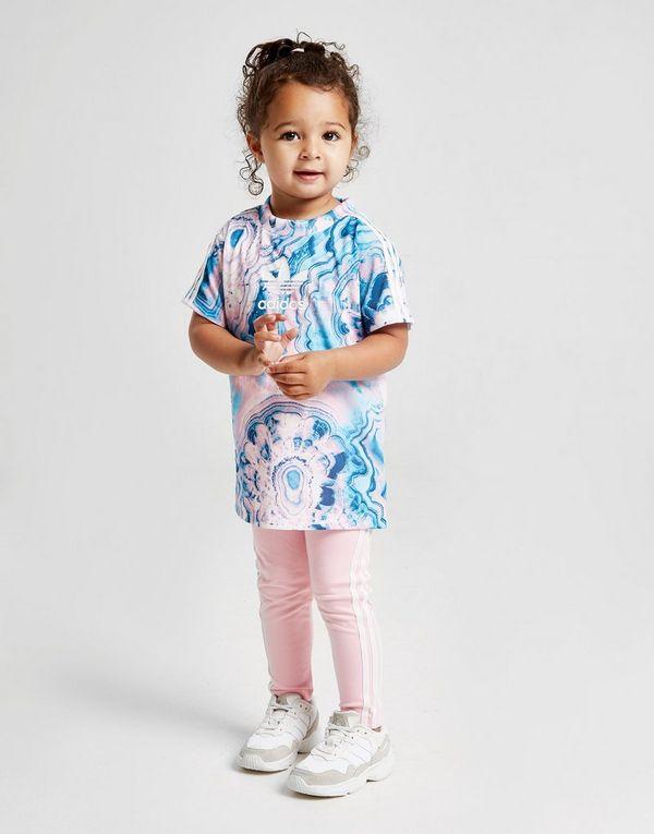40f60cb81 adidas Originals conjunto Girls' Marble camiseta y leggings para bebé