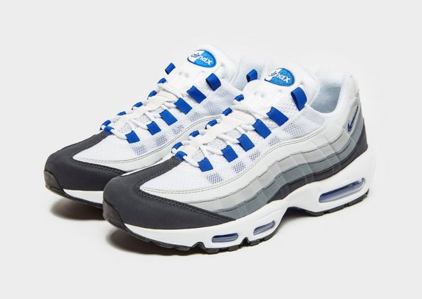 Nike White With Black Accent Air Max 95 Trainers White