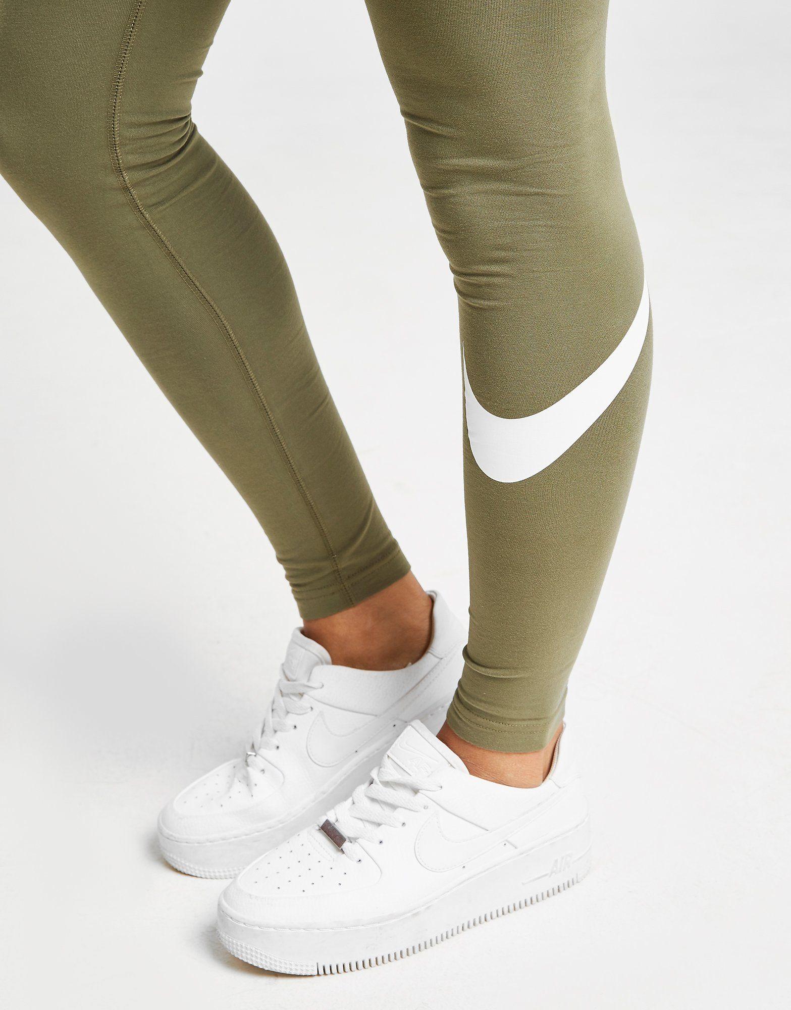 Nike High Waisted Swoosh Leggings