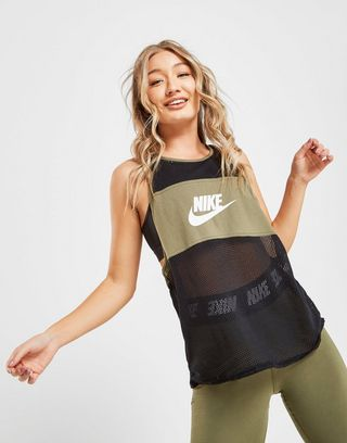 Nike Colour Block Mesh Tank Top Dame