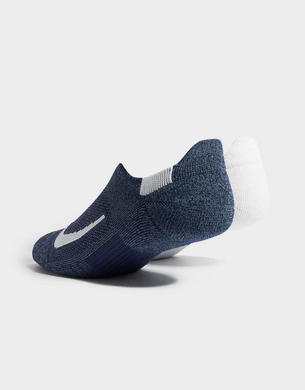 Koop Wit Nike 2 Pack Running Performance Socks | JD Sports
