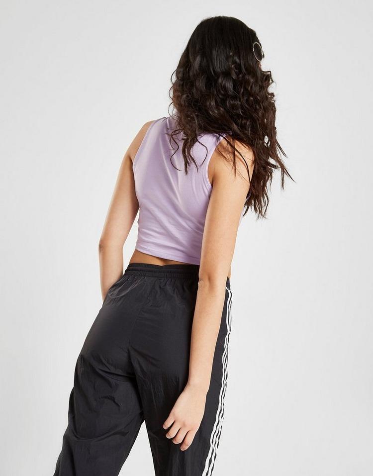 Acheter Purple adidas Originals Débardeur Court 3 Stripes