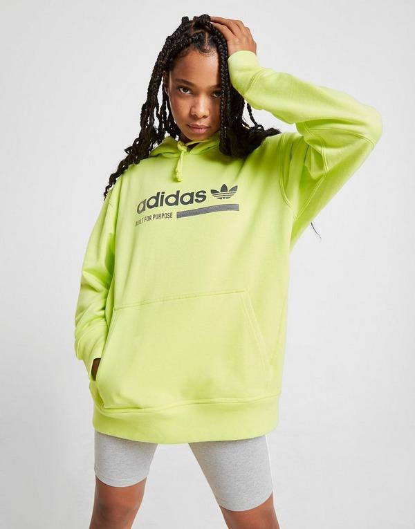 Adidas Herrenbekleidung Neon Gelb Kapuze mit verstellbaren