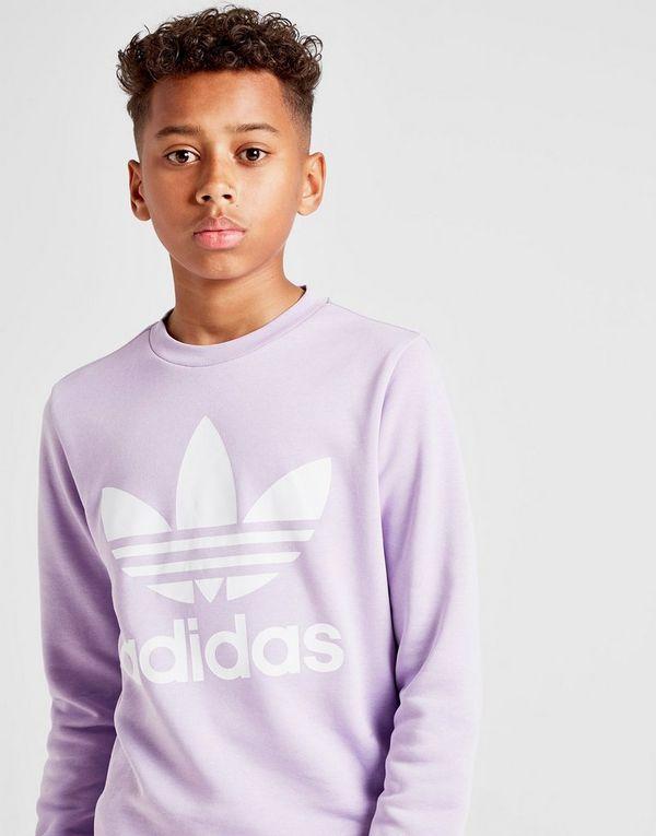 f0ba6f3d16a7 adidas Originals Trefoil Crew Sweatshirt Junior | JD Sports