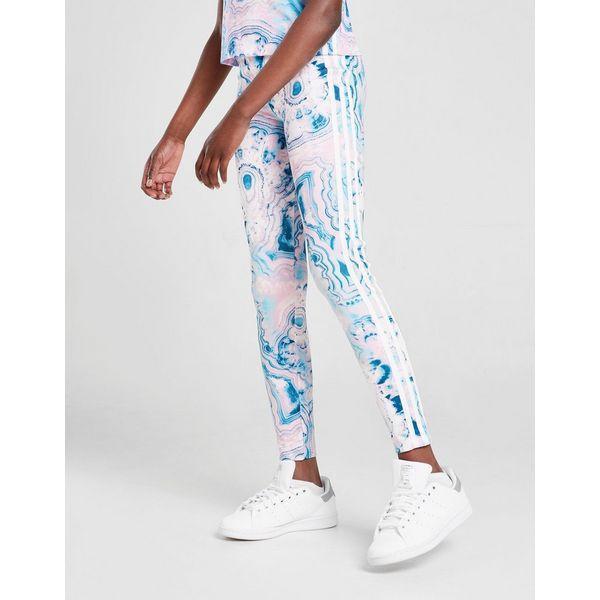 adidas Originals Girls' Marble All Over Print Leggings Junior