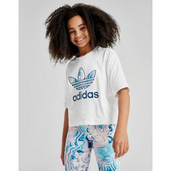 adidas Originals Girls' Infill Crop T-Shirt Junior