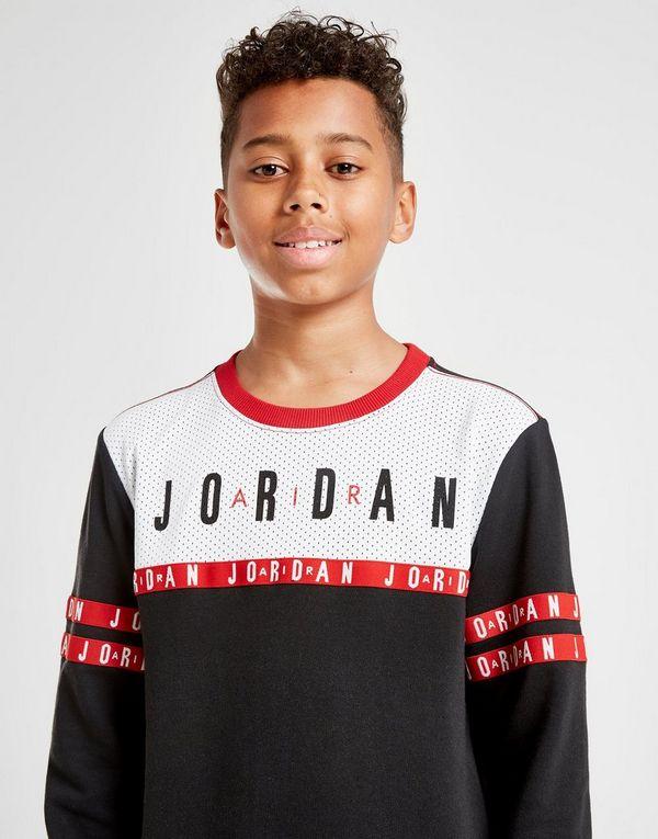 the best attitude b2acf 0978f Jordan Jumpman Tape French Terry Crew Sweatshirt Junior   JD Sports