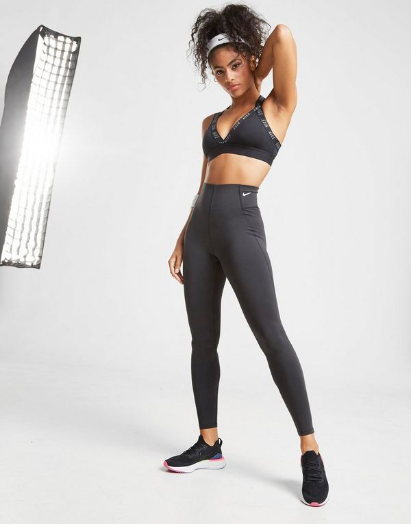 Nike Training Indy Logo Plunge Bra