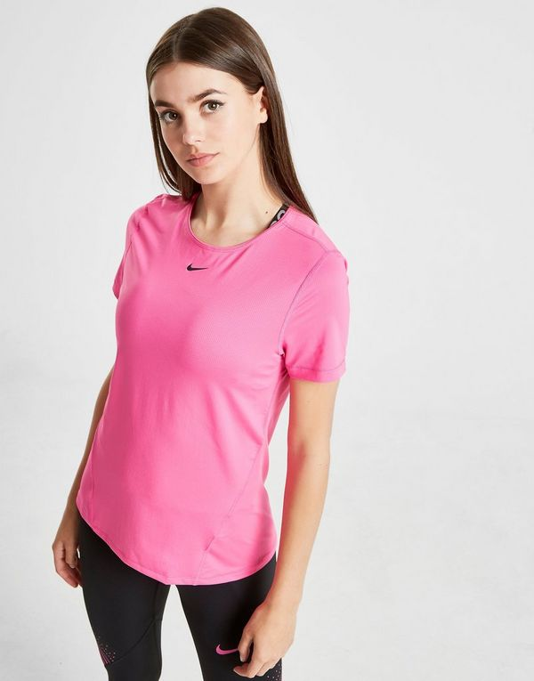 9b7411478 NIKE Nike Pro Women's Short-Sleeve Mesh Training Top | JD Sports