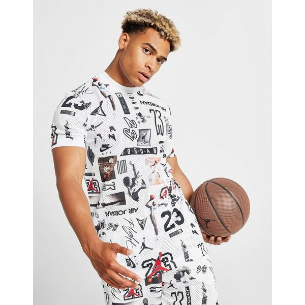 Jordan All Over Print Mesh T-Shirt