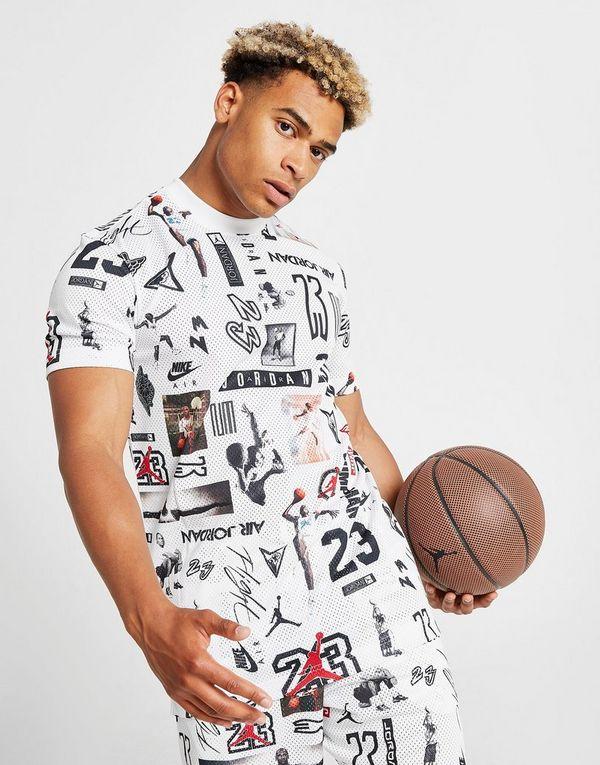 c415bc1f4 Jordan All Over Print Mesh T-Shirt | JD Sports