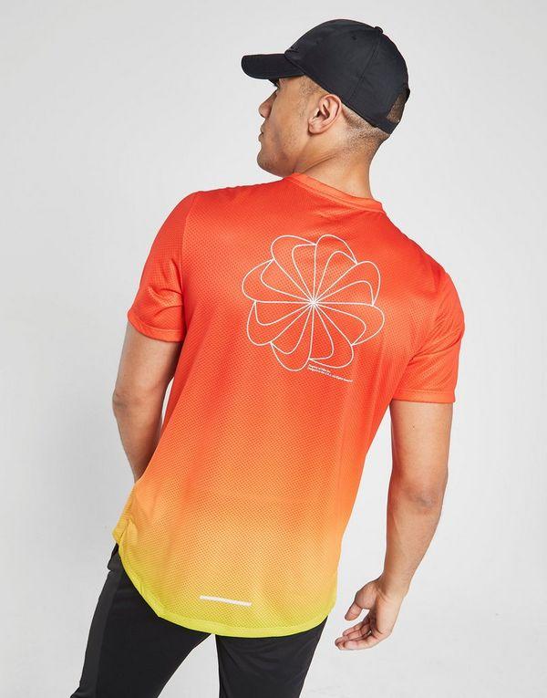 online retailer fbb2e e4425 NIKE Nike Dri-FIT Miler Men s Short-Sleeve Printed Running Top