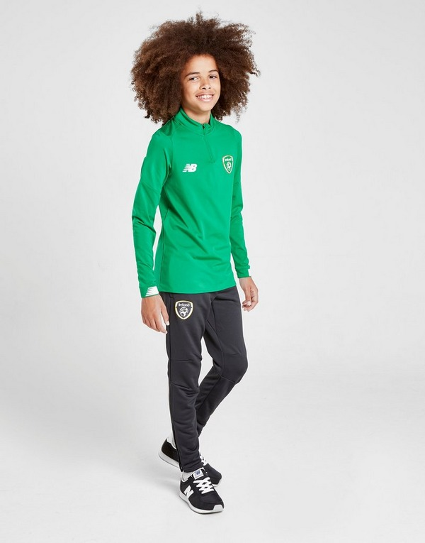 New Balance Republic of Ireland Long Sleeve 1/2 Zip Top Junior