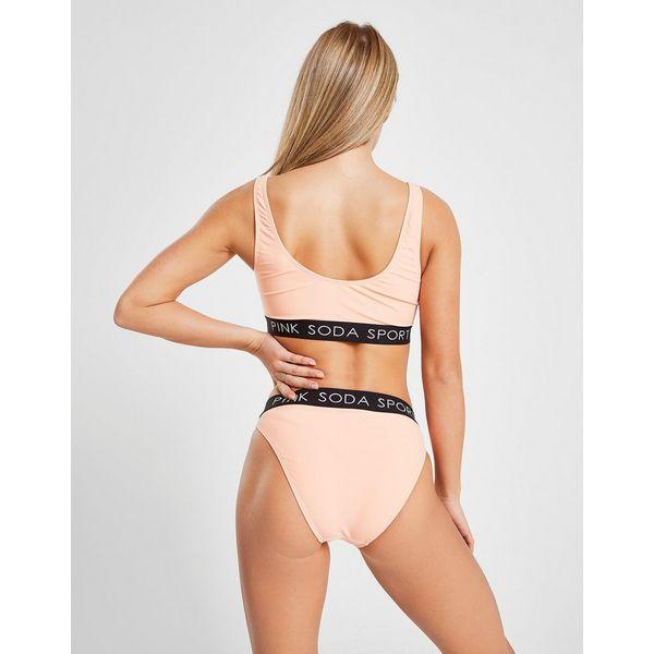 Pink Soda Sport Tape Bikini Top