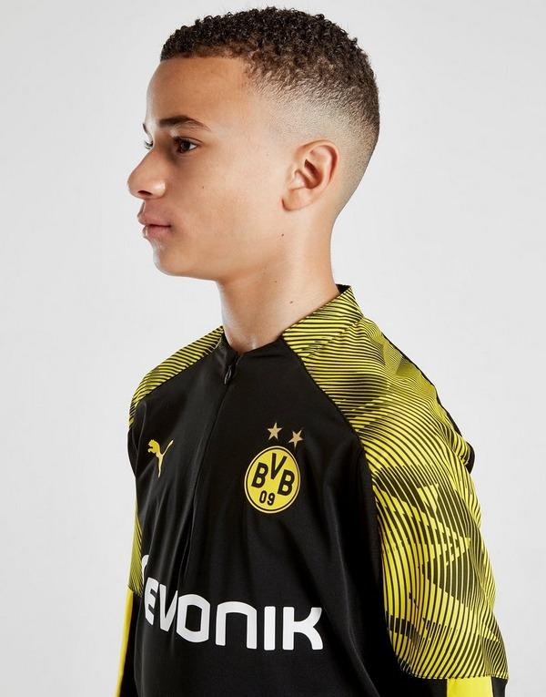PUMA Borussia Dortmund 1/4 Zip Top Junior